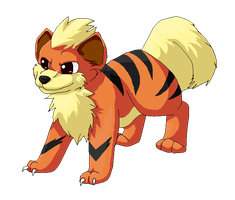Growlithe by StormFalconFire