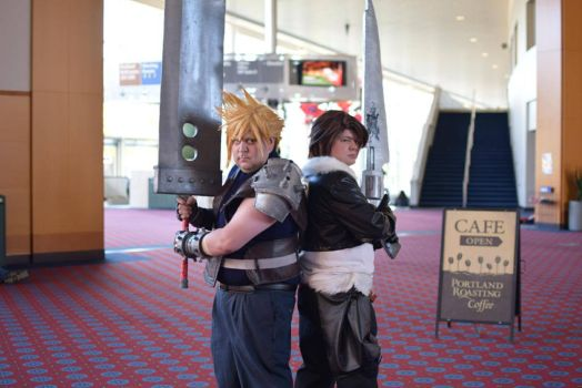 Cloud And Squall by HellBent-Cosplay