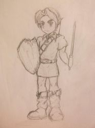 Young Link (sketch) by house-fish