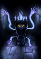 Cofagrigus and Chandelure fusion by Igrisa