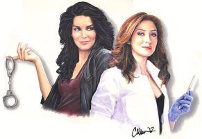 Rizzoli and Isles - Drawing by Live4ArtInLA