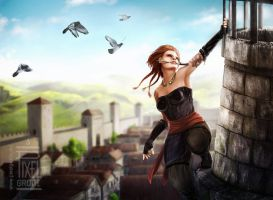 Over the rooftops by FedeSchroe
