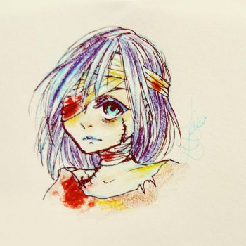 Zombie Girl (?) by roseycrystals730