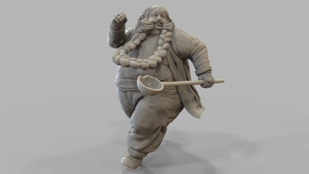 Bombur ZBrush sculpture for 3D printing by MadeleineSpencer