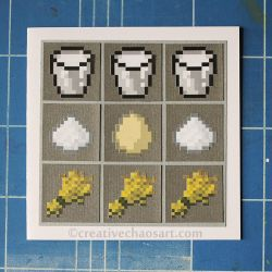Minecraft Card - Cake Recipe by bicyclegasoline