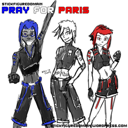 Pray for Paris by Stickfigure5000