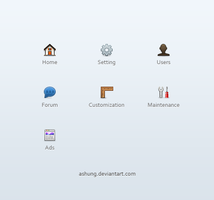 Management Panel Nav Iconset by Ashung