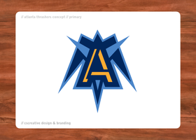 Atlanta Thrashers Primary Logo by chickenfish13