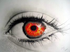 Infinite Red Eye by Cr1msonCloud
