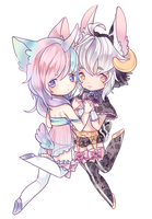 commission : dulce + sucre !! by pkii