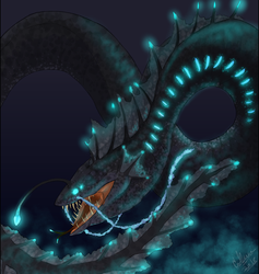 Creature Of The Depths by twilightwhitewolf