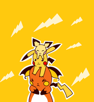 pichu,pikachu and raichu on each other ms paint by yumethenekomata