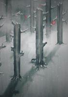 The Woods in Winter by MagpieMagic