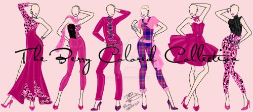 Berry Colored collection by E-Ocasio
