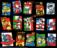 All FIFA World Cup Mascots (Until this Moment) by DouglasArtGallery