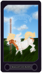 Knight of Rods - Tarot Card by Astralseed