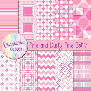 Pink And Dusty Pink Set 7 by Chantahlia