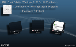 RED - Start Orb by Chronic-Win7-Mods