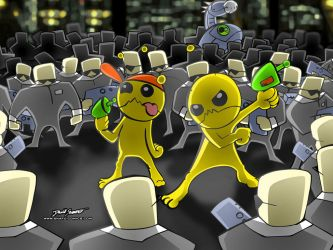 Newgrounds: Alien Hominid by SnafuDave