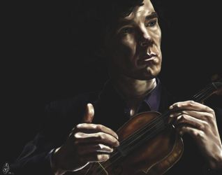 So pleasant to put down fingers on a violin by Bilou020285
