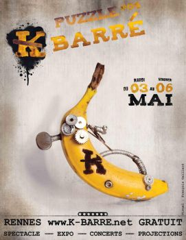 Affiche K barre Banane by leamings