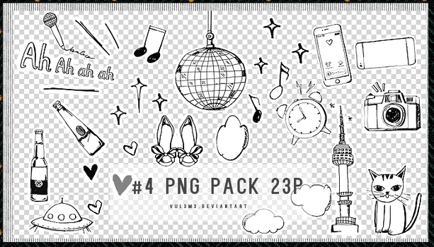Png Pack #4 23P by Yu by vul3m3
