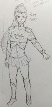 Magical Girl Aether- Fire Ruby Sketch by Jason-Jamey