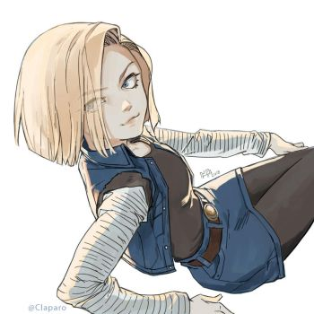 Android18 by Claparo-Sans