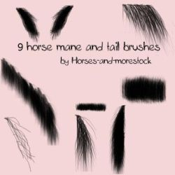 Mane and Tail brushes for gimp by horses-and-morestock