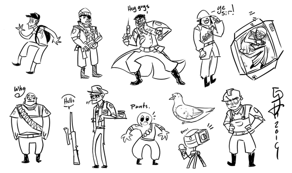 TF2 Comic Concept Sketchy Sketches by TheGreatHushpuppy