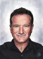 Robin Williams Portrait by LaurenceAndrewPage