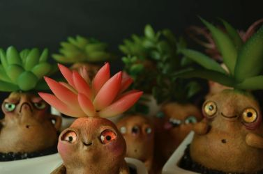 Living Succulent Root Creatures by falauke