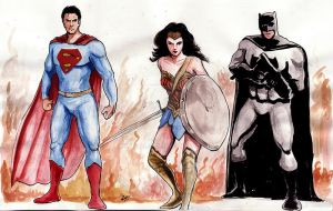Batman Superman Wonder Woman by mrinal-rai