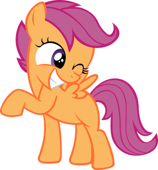 Scootaloo Winks by MrPiBB-93