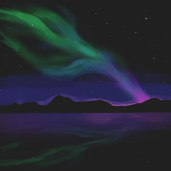 Northern Lights Attempt! by KaraNari