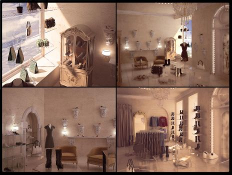 classic interior for shoes mar by makasiku