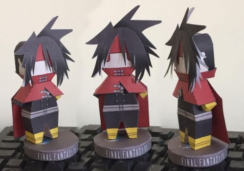 FF7 Vincent Papercraft by guitarseer