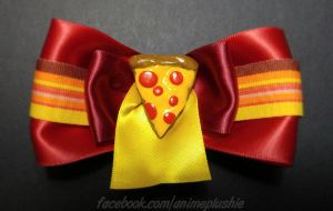 Pizza Hair Bow by SarahsPlushNStuff
