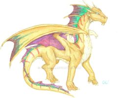 Red Bronze Hybrid Dragon by Leithster