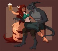 Come get it - interaction commish by Sythgara