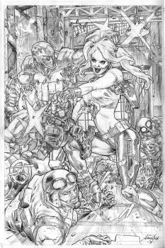 Harley Quinn and Deadshot by AllPat