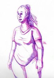 Daily Sketch: Nice Lady by Hunchy