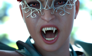 VAMPIRE BITE ME test render by MaskDemon