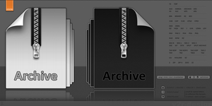 Archive + CompressedFile Icons by artist00