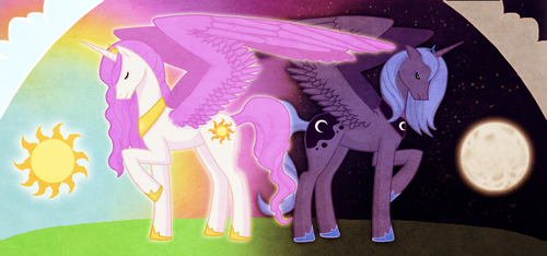 Sun and Moon by Mad-March