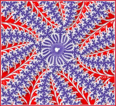 Red, White, and Blue Fractal by antarctica246