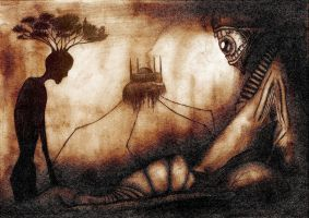 The landscape of defiled mind by Sharg-Oth