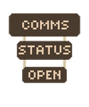 Comms Open Signs by Meadows-Resources