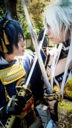 Kogitsunemaru and Jiji - fighting for you. by ShadowFox-Cosplay