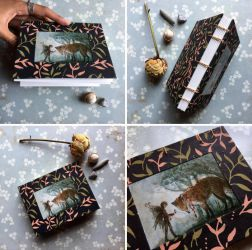 Fox + Fairy Handbound Coptic Notebook by emera